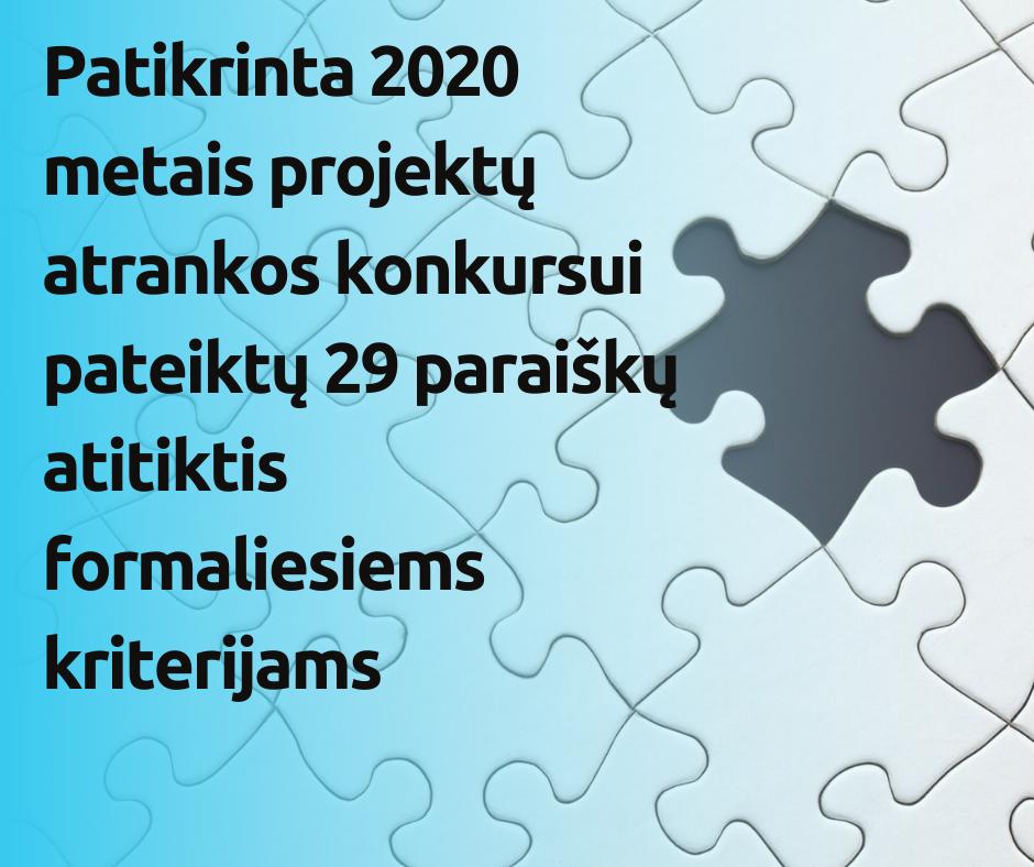 Patikrinta Neįgaliųjų asociacijų veiklos rėmimo 2020 metais projektų atrankos konkursui pateiktų paraiškų atitiktis formaliesiems kriterijams